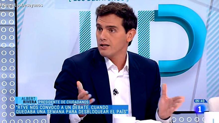 Albert Rivera, en Los Desayunos de TVE