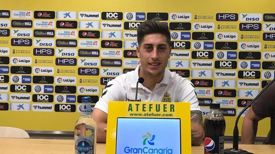 Álvaro Lemos estará disponible en el duelo de los amarillos frente al Málaga