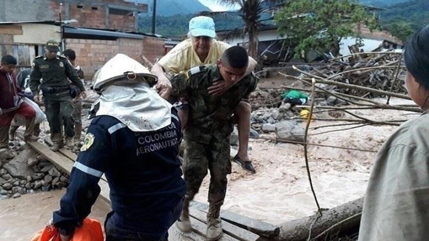 España dona 80.000 euros para ayuda de emergencia a los afectados por las lluvias en Mocoa (Colombia)