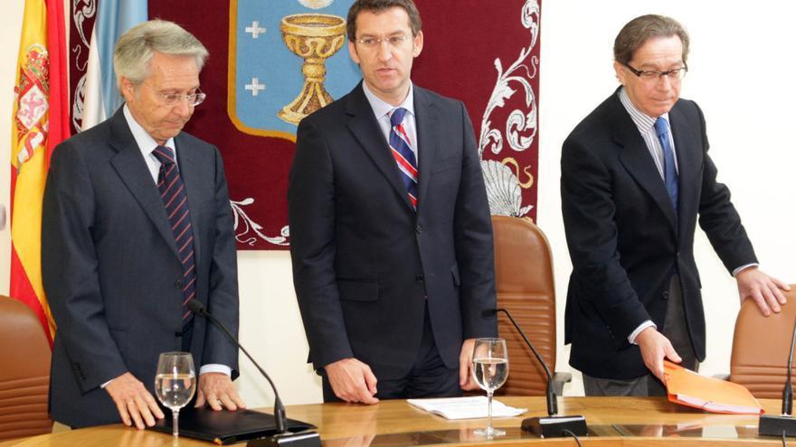 Gayoso, Feijóo y Méndez, en el otoño de 2009, antes de la fusión