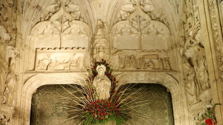 Adornos en la catedral de Toledo durante el Corpus 2015