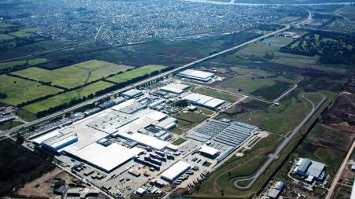La planta de Toyota, en Zárate. Tiene 5000 operarios.
