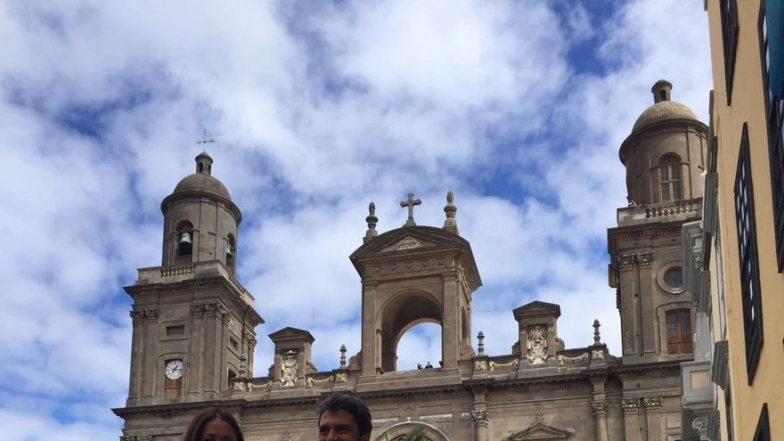 Tavío y Hernández Bento, en la plaza de Santa Ana, en Las Palmas de Gran Canaria