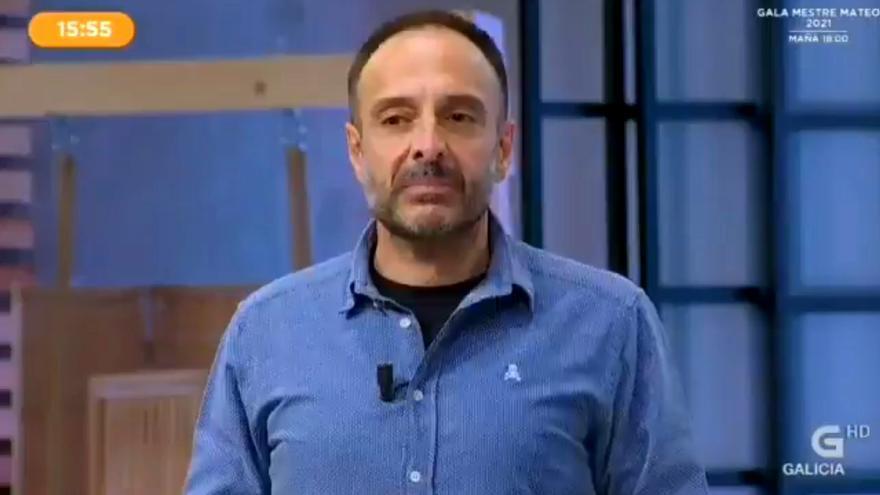 Roberto Vilar al disculparse en TVG