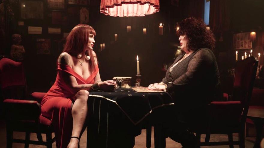 Daniela Santiago como 'La Veneno' y Paca La Piraña, en las preuvas de Neox