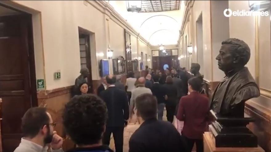 Evacuan el Congreso por un simulacro