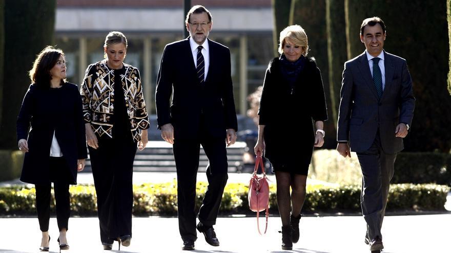 """Aguirre y Cifuentes acompañan a Rajoy en la presentación de su lista, que ofrece """"seguridad y certidumbre"""""""