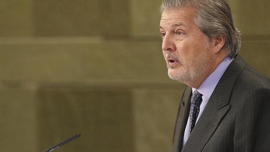 El portavoz del Gobierno, Íñigo Méndez de Vigo, durante la rueda de prensa posterior a la reunión del Consejo de Ministros