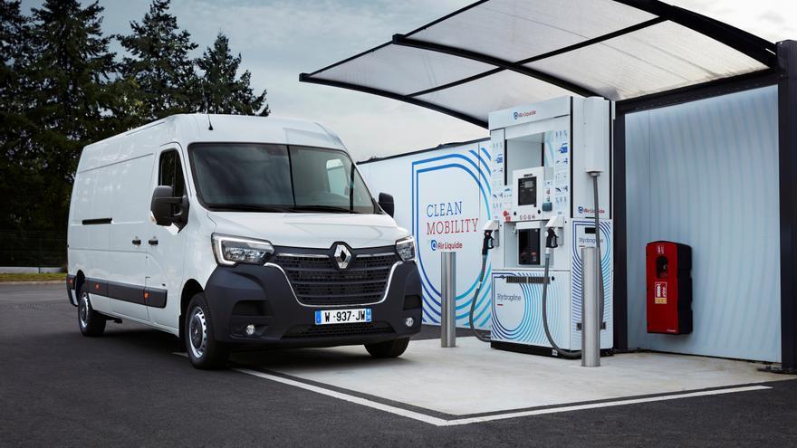La versión de hidrógeno de la furgoneta Renault Master.