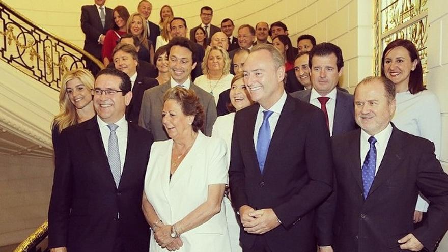 Imagen de los diputados del PP de las Corts Valencianes