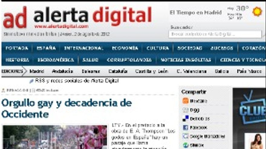 Captura de alertadigital.com.