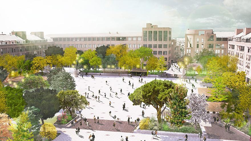 Proyecto X: 60 x 60, uno de los dos proyectos preseleccionados para la Plaza de la Remonta. /