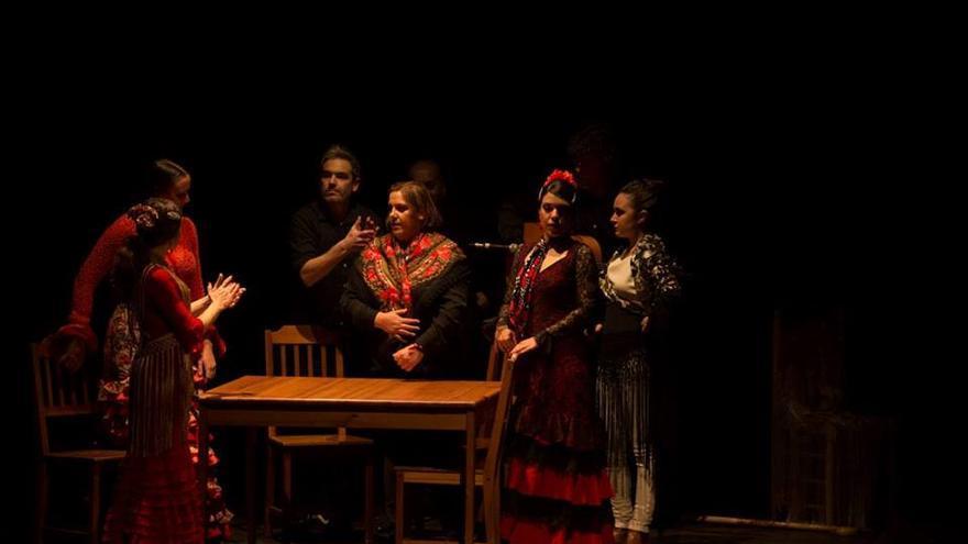 La compañía flamenca Al Aire en escena.