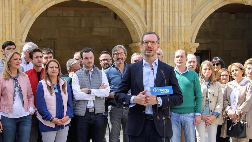 """Maroto (PP) afirma que votar al PNV supone """"lo mismo que votar a Pedro Sánchez"""""""