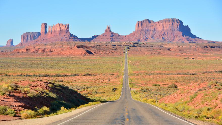 Monument Valley tiene una relación muy estrecha con el cine. Este punto se conoce como Forest Gump hill, por una de las escenas de la película. Mike McBey.