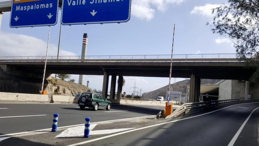 Barreras instaladas por el Cabildo de Gran Canaria.