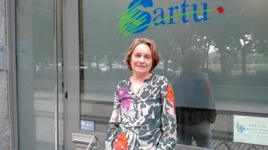 La presidenta de la Federación Sartu, Igone Virto.
