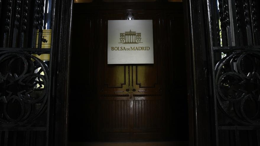 Entrada en la Bolsa de Madrid.