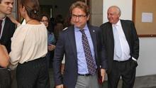Salvador Alba, a la salida del acto de apertura del año judicial en Canarias. (ALEJANDRO RAMOS)