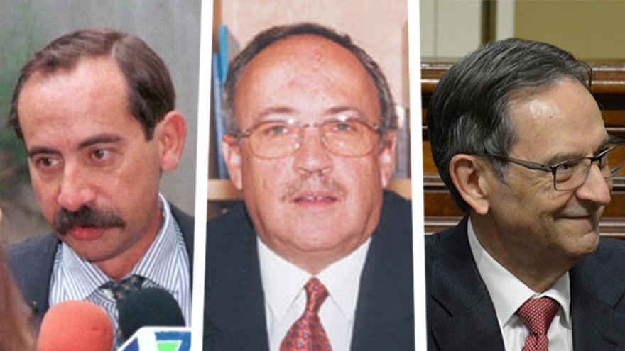 Julio Bonis, Luis Suárez Trenor y Antonio Castro.