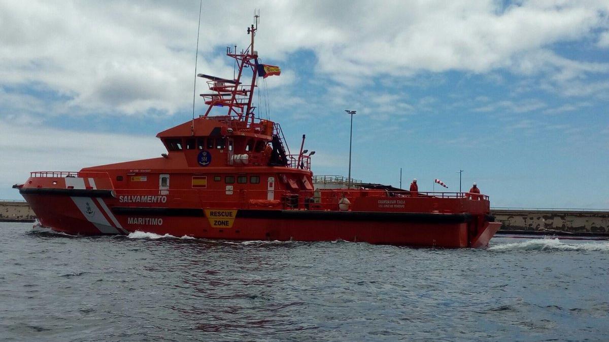 La Guardamar Talía de Salvamento Marítimo salió este lunes al rescate de los migrantes