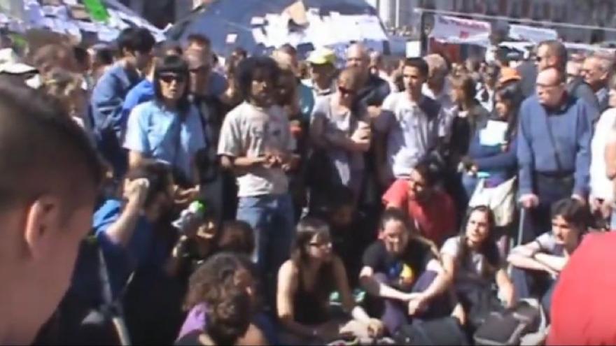 Asamblea del 15M en la Puerta del Sol