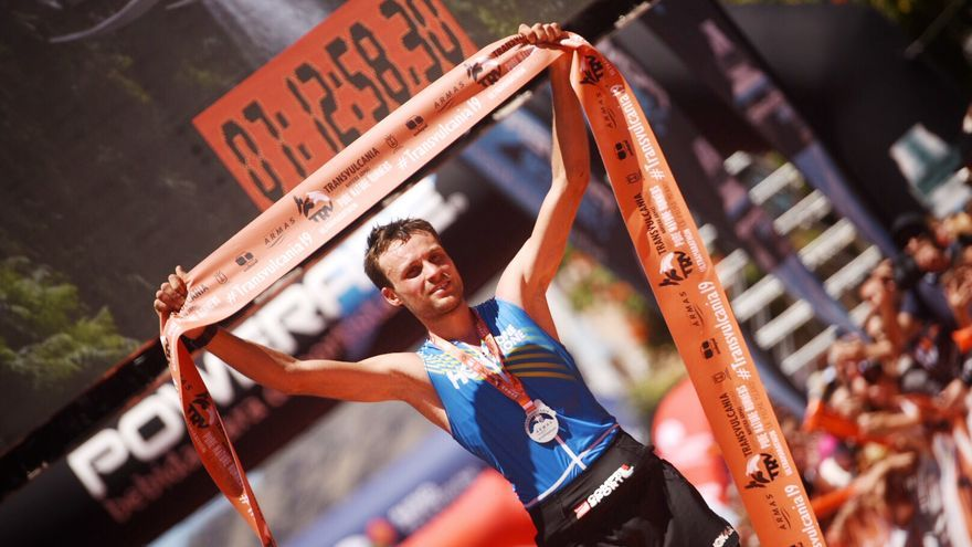 En la imagen, Thibaut Garrivier, ganador de la Transvulcania 2019.