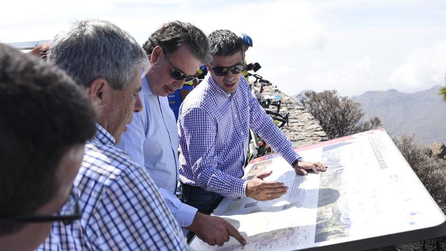 Narvay Quintero, en un mirador de la cumbre de Gran Canaria, este miércoles