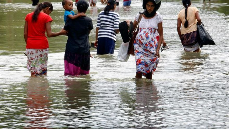 Los desastres naturales amenazan la alimentación de 900.000 personas en Sri Lanka