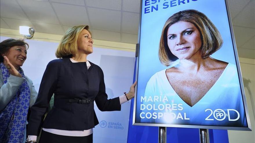 """Cospedal pide el voto para consolidar el cambio frente a los """"experimentos"""""""