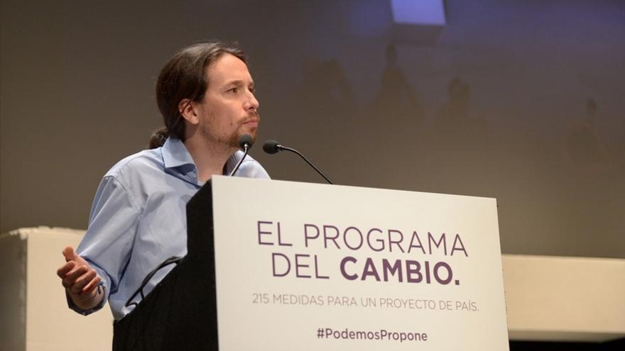 """Pablo Iglesias dice que un referéndum soberanista es """"inviable"""" con la actual Constitución"""