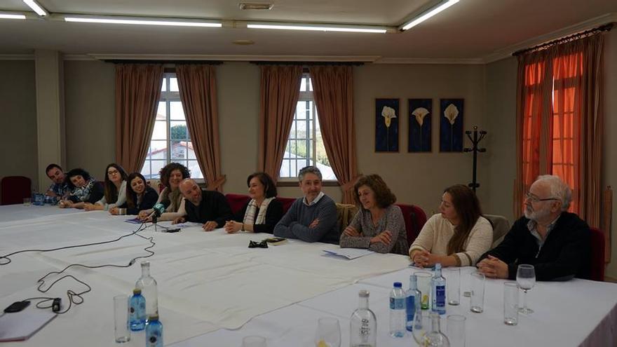 Miembros de la nueva coordinadora de En Marea