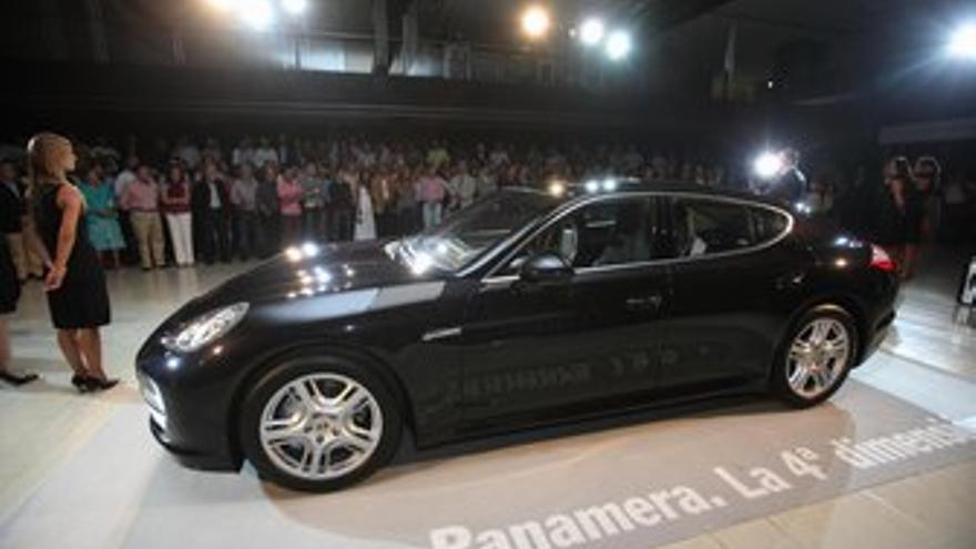 El Porsche Panarema, presentado. (QUIQUE CURBELO)