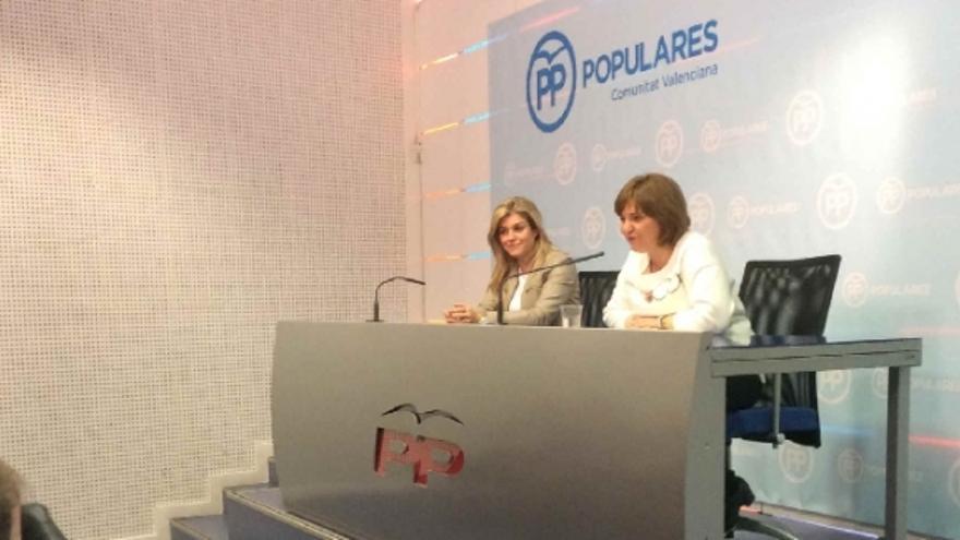 Isabel Bonig, durante la Junta Directiva Regional del PPCV