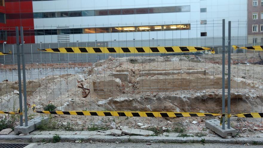 Restos de depósitos encontrados en las obras del polideportivo del Parque Móvil   SOMOS CHAMBERÍ
