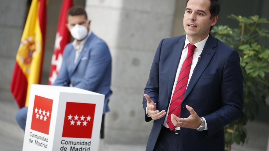 """Aguado insiste en que el Gobierno de Madrid """"goza de buena salud"""" y tiene vocación de acabar la legislatura"""