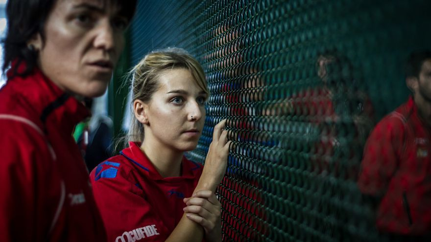 Imagen del rodaje del corto documental 'Las pelotaris' / Foto: Daniel Burgui.