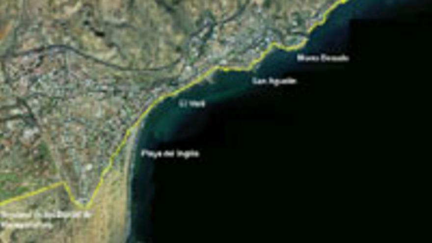 El paseo litoral que propone el plan de rehabilitación del sur grancanario.