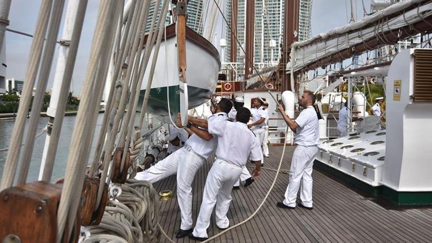 El Juan Sebastián Elcano llega a Miami, penúltima escala de su actual viaje