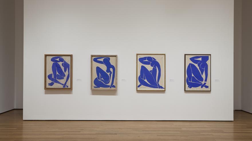 Sala de la Tate Modern (Londres) con la serie de Desnudos azules (1952) de Matisse. Imagen por cortesía de Versión Digital