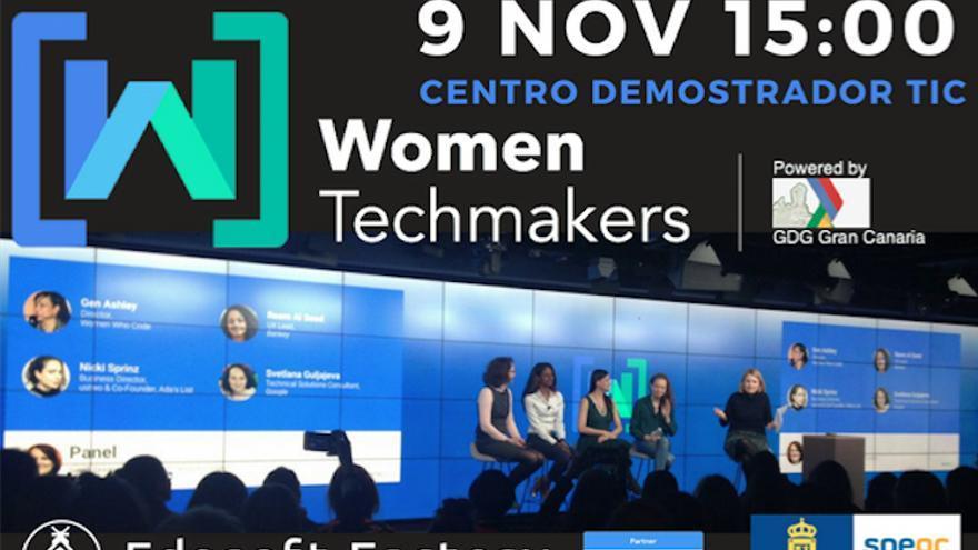 Ocho mujeres que destacan del mundo de la tecnología protagonizan el evento 'Women techmakers' de Google en Gran Canaria.