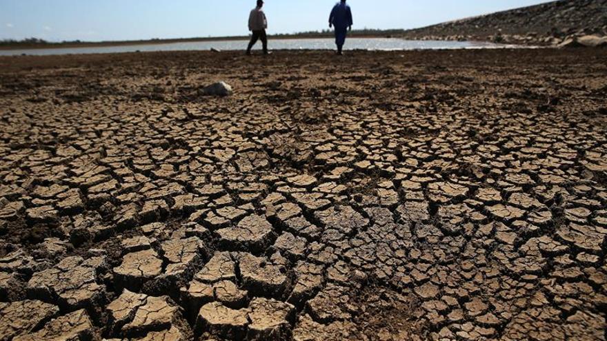 Tierra resquebrajada por la sequía.