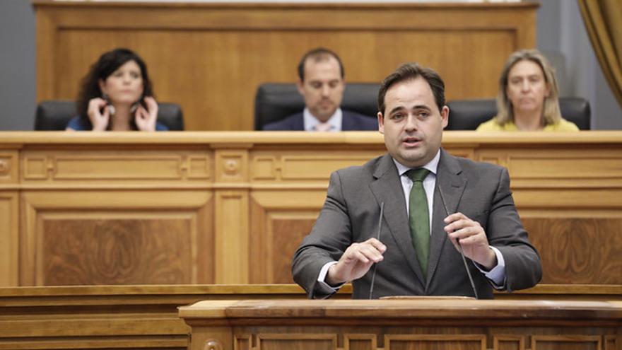Paco Núñez, presidente del PP en Castilla-La Mancha en la sesión del Debate de Investidura de García-Page