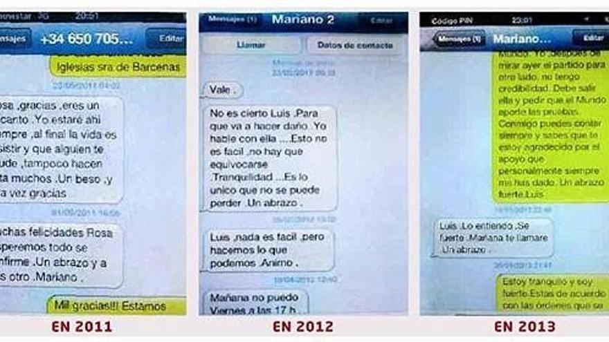 Mensajes entre Rajoy y Bárcenas
