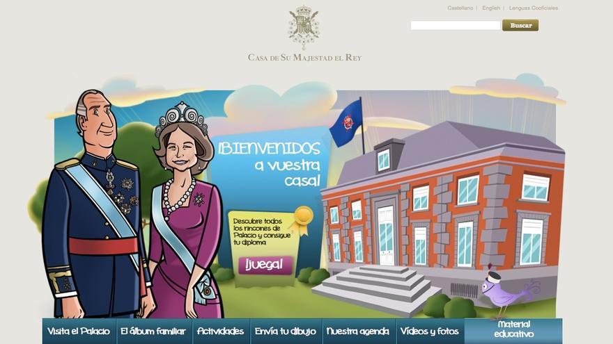 Home del site infantil de la web de la Casa Real