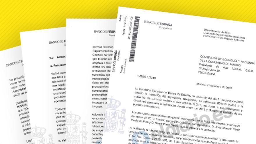 Expediente del Banco de España a Avalmadrid