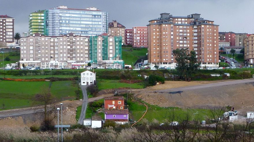 La vivienda de Amparo Pérez en la Vaguada de Las Llamas de Santander.