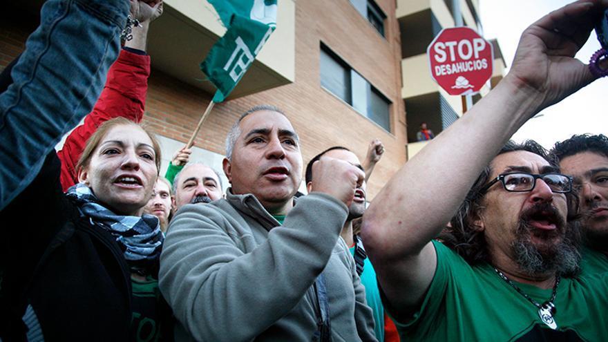 Protesta de la PAH contra los desahucios