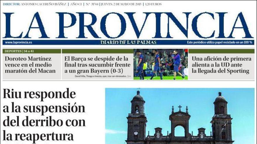 Las portadas del día (2-05-2012) #13