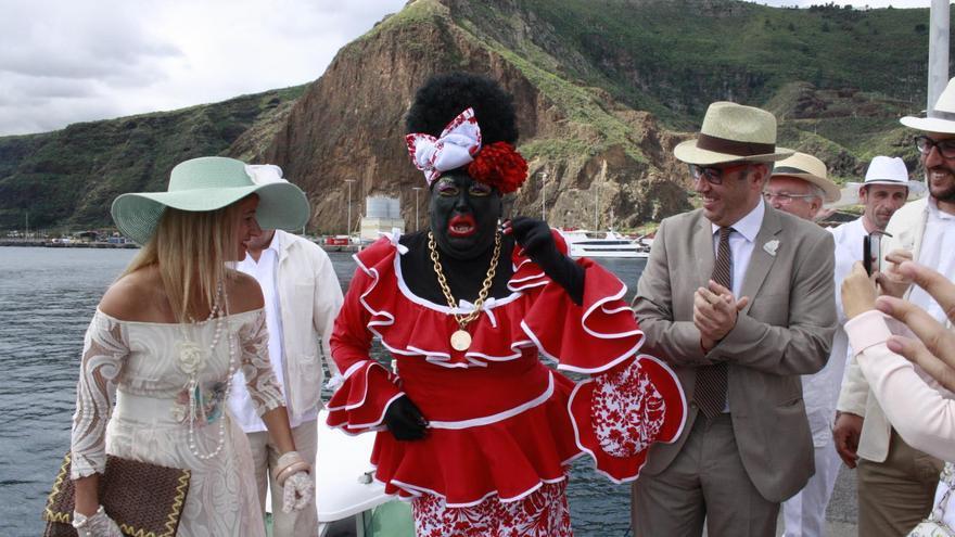 La Negra Tomasa a su llegada al puerto de Santa Cruz de La Palma.